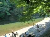 コテージ前の河原