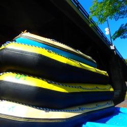 ラフティングボートの準備