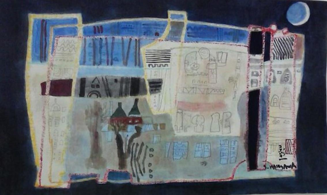 """"""" Intimité""""  aquarelle - format 23 x 37 cm"""