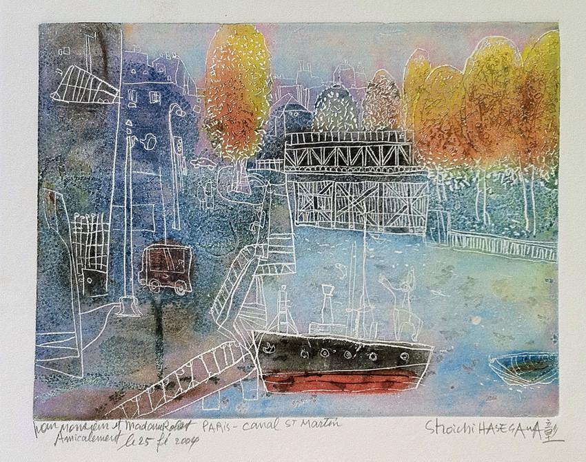 Paris-canal saint Martin  Vendue