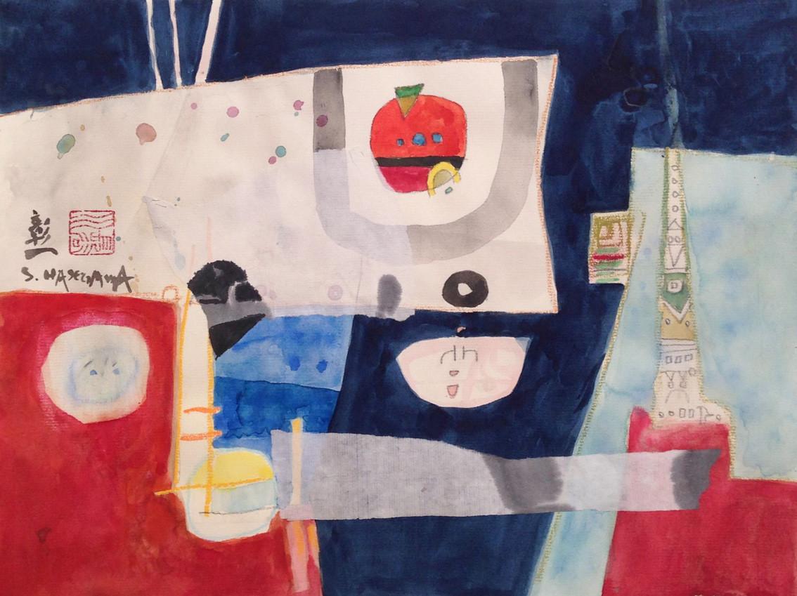 """' Passages """" aquarelle - format  24 x 31 cm"""