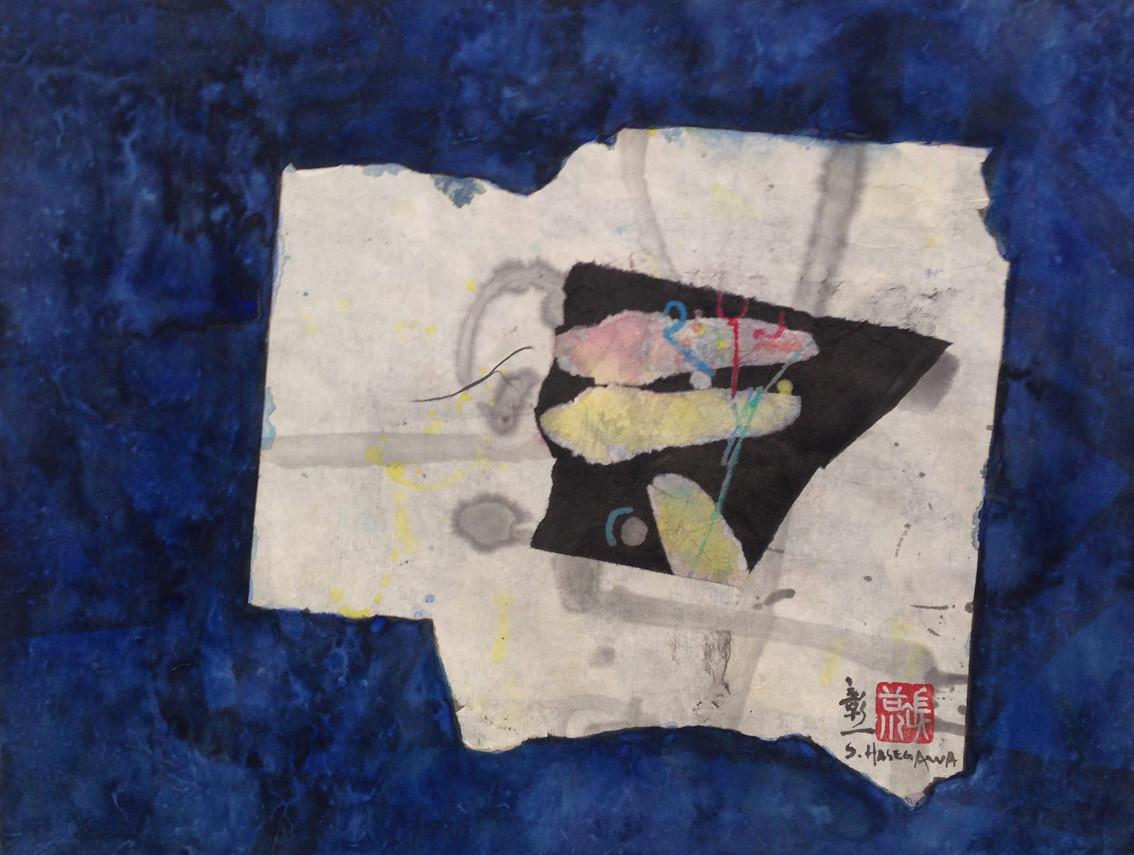 """"""" Superpositions"""" peinture japonaise - format 47 x 38 cm"""