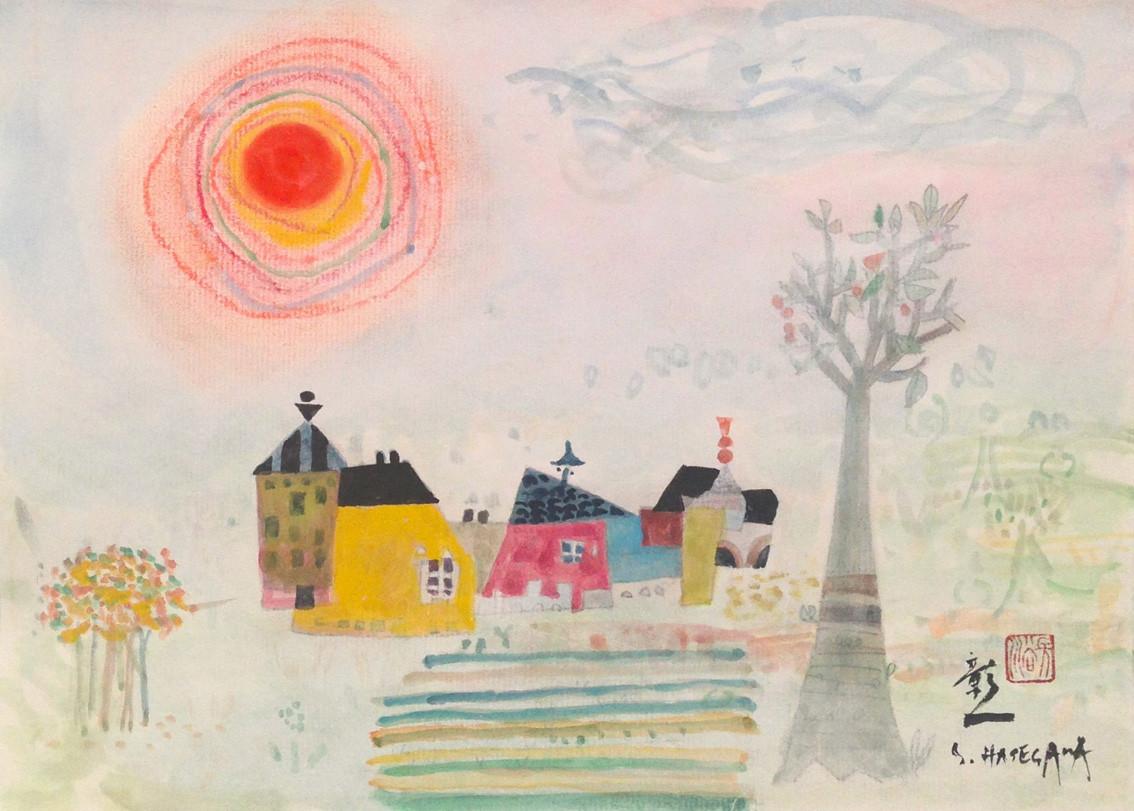 """"""" Chaleur matinale"""" aquarelle - format 24 x 33 cm"""