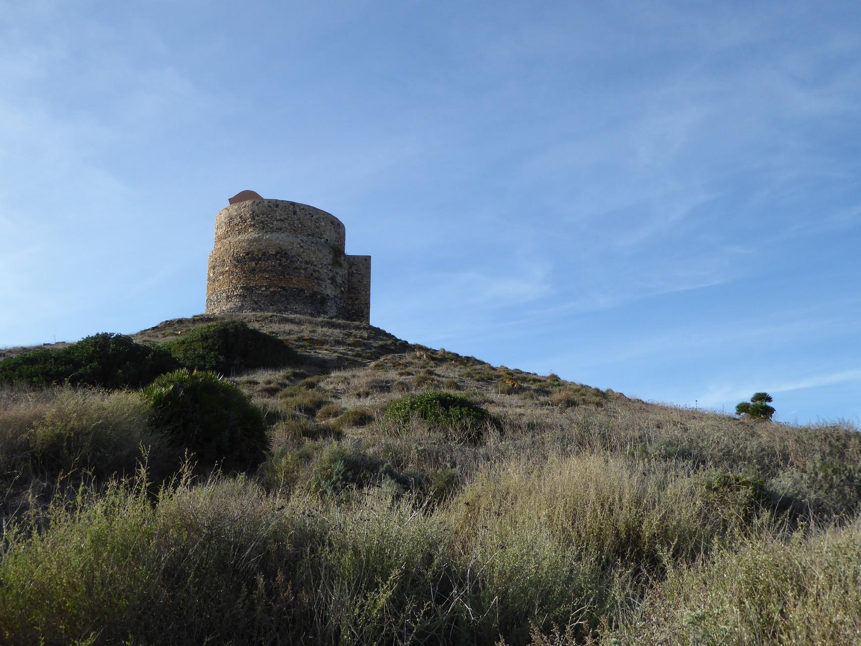 Der Aufstieg auf diesen Turm bei Tharros...