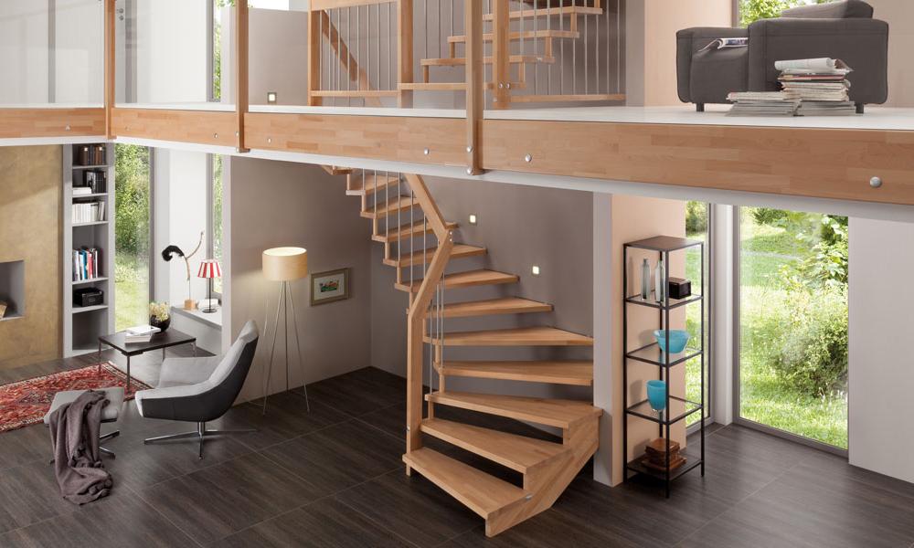 VIVA in EICHE - unser beliebtestes und meistverkauftes Treppenmodell