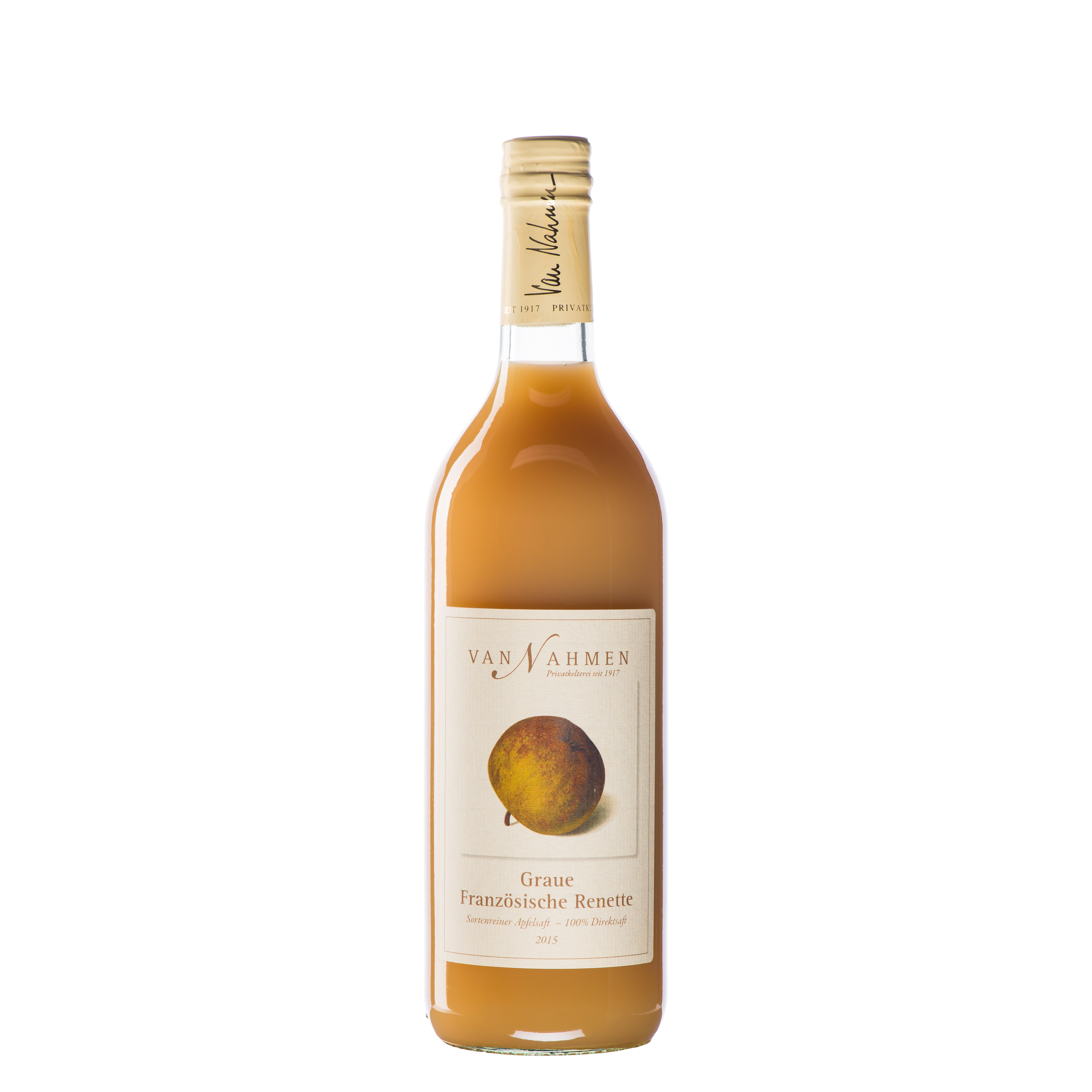 Van Nahmen Apfelsaft Graue französische Renette sortenreiner Apfelsaft Gourmetsaft