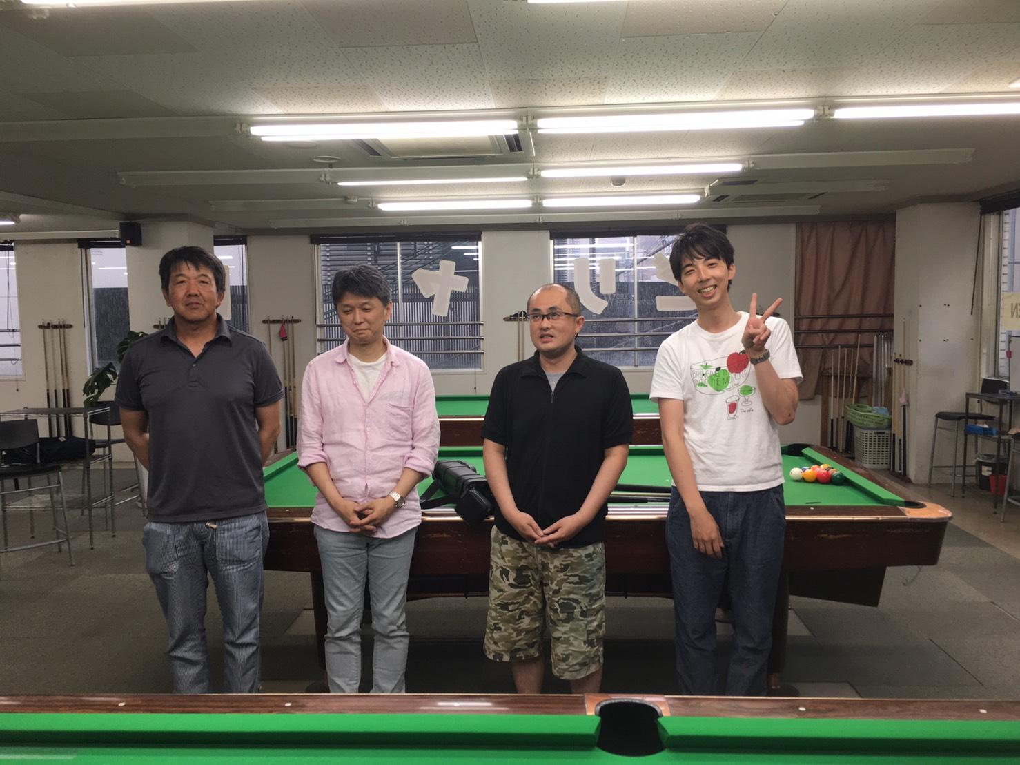 左から辻さん(3位)、加悦さん(2位)、飯塚さん(1位)、満面の笑みの工藤君(3位)