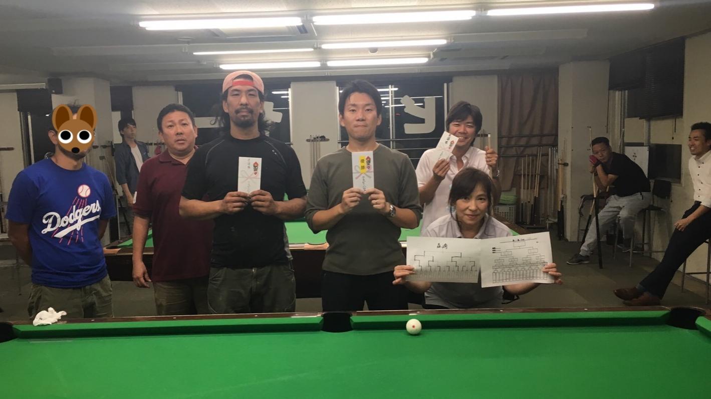 ウッシー&ペーさん3位、おっくん準優勝、いくちゃん優勝、もりりん裏優勝、with私