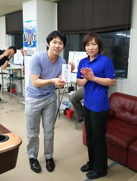 敗者側優勝!平松さん!仕事終わりのコソ練実りましたね。(後ろの方は気にしないでください)