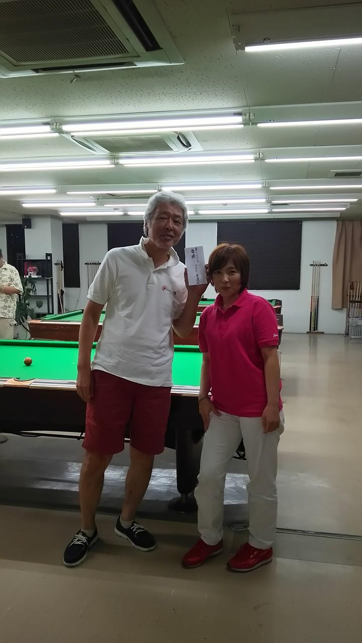 実力では、いつでも勝者側で優勝できるのに、、、でも良かったですねー敗者側優勝!辻野さん。