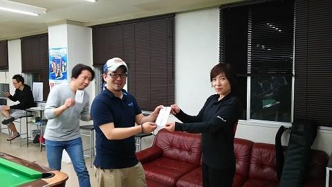 お見事!!第1回優勝者、永藤氏!!おめでとう!
