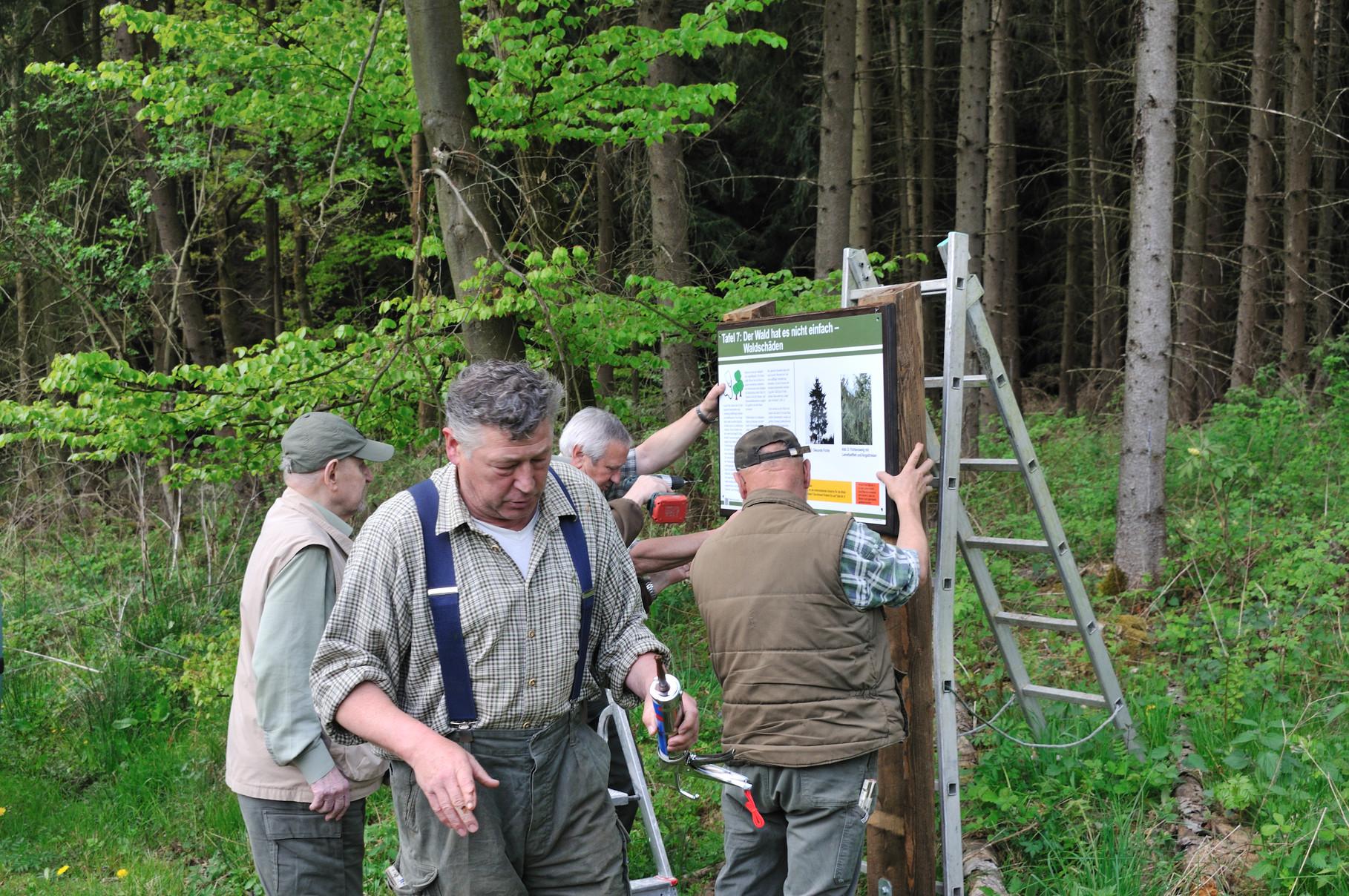 Betreuung des angelegten Waldlehrpfads