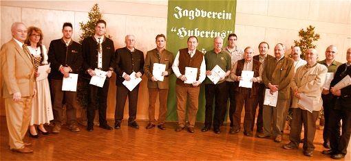 Ehrungen im Jagdverein Hubertus