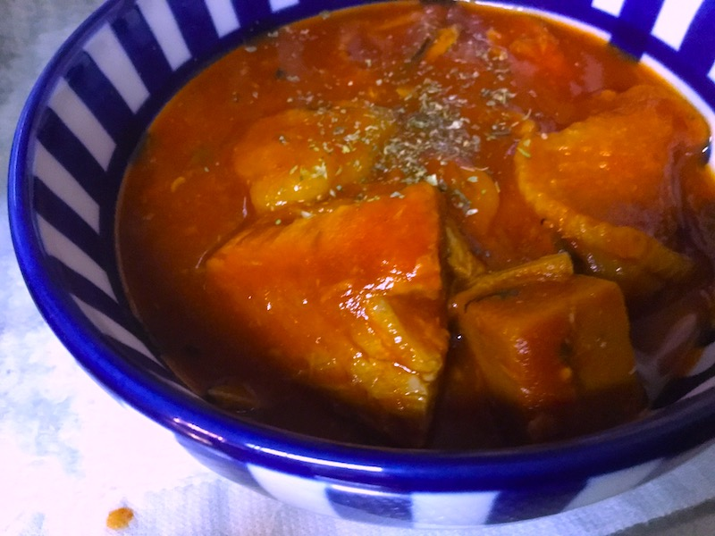 鯖缶と乾物でシチュー