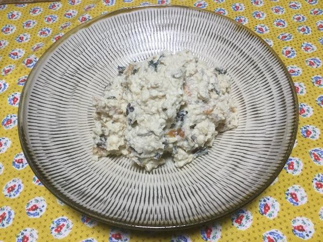 包丁いらず、豆腐の水切りいらずの白和え