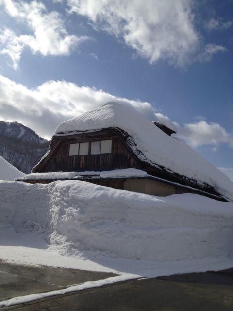 山形県の雪深い地域大井沢の冬の様子