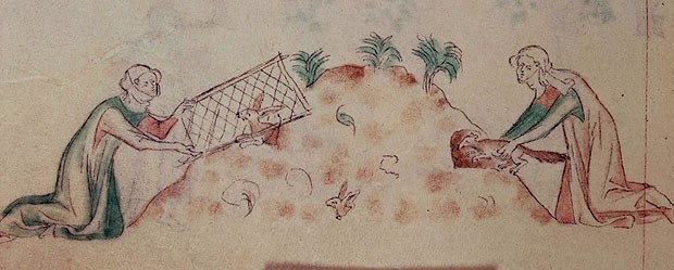 Illustration extraite du Psautier de la Reine Marie, manuscrit enluminé, entre 1310 et 1320