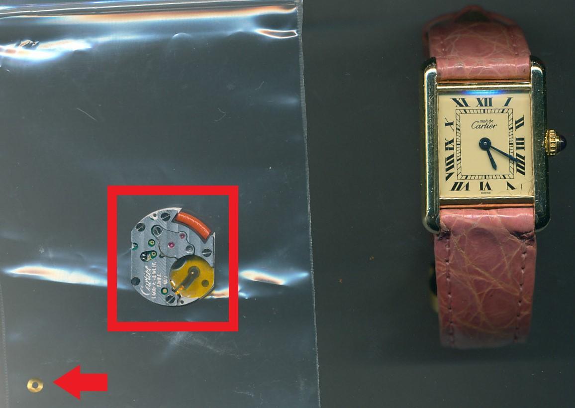 カルティエ( Cartier )タンクソロ のオーバーホール ・回路交換を承らさせて頂きました
