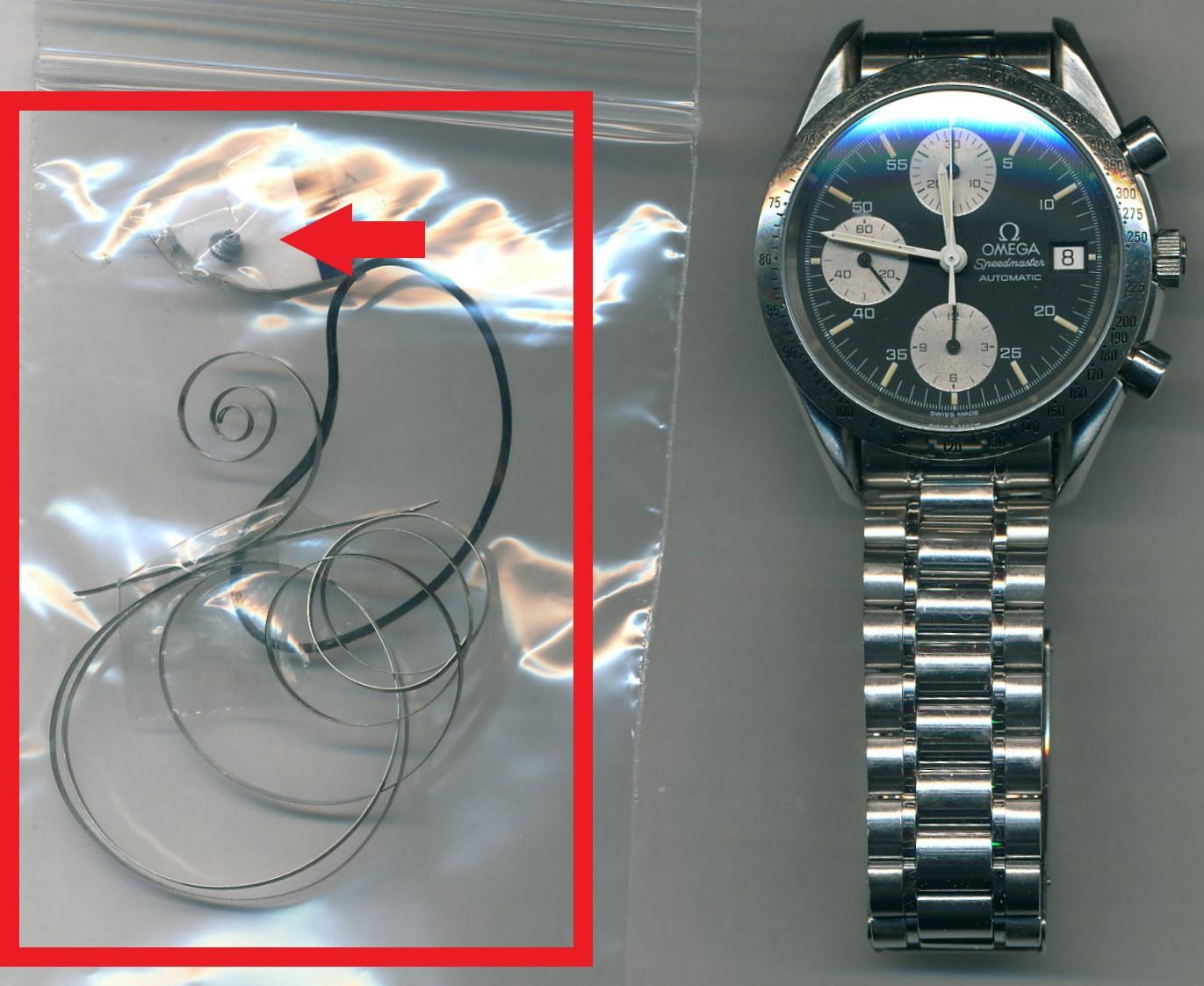 オメガ(OMEGA)スピードマスター (Rif.3511-50/デイト)のオーバーホール・香箱芯交換・ゼンマイ交換・パッキン交換を承らせて頂きました