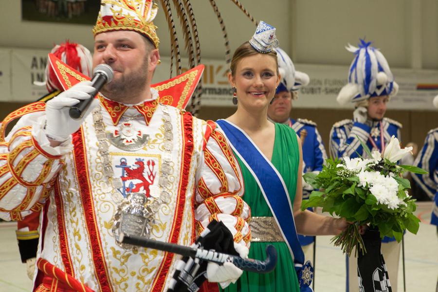 Prinz Hanno I. begrüßt die Zuschauer