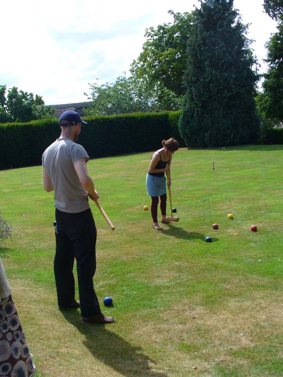 Playing croquet with Helen Stephens and Alexis Deacon - surreal.