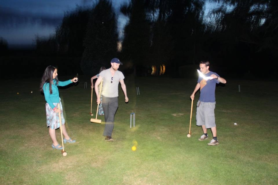 Proof you CAN play croquet in the dark.