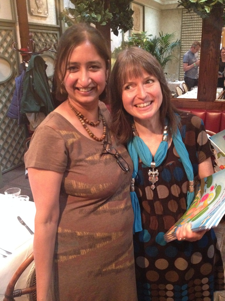 Fellow Scooby member and critique partner Chitra Soundar, who represented SCBWI at the launch.
