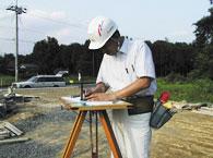 後藤建設の敷地調査