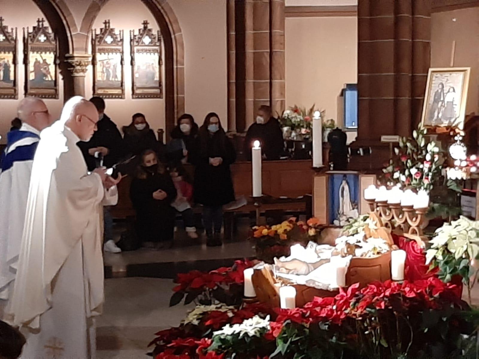 Eröffnung des Jubiläumsjahres 2021 mit Pfarrer Philippen, Fatima-Apostolat im Bistum Aachen und Pfarrer Schwarzmüller