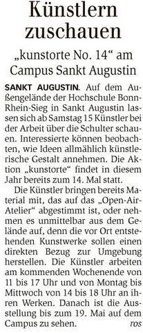 Artikel General Anzeiger Bad Honnef 04.05.2016