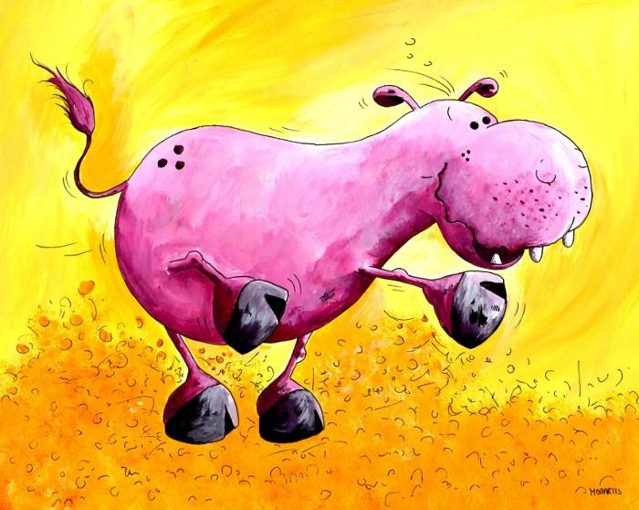 Pool Position - dickes süßes Nildpferd in Wallung