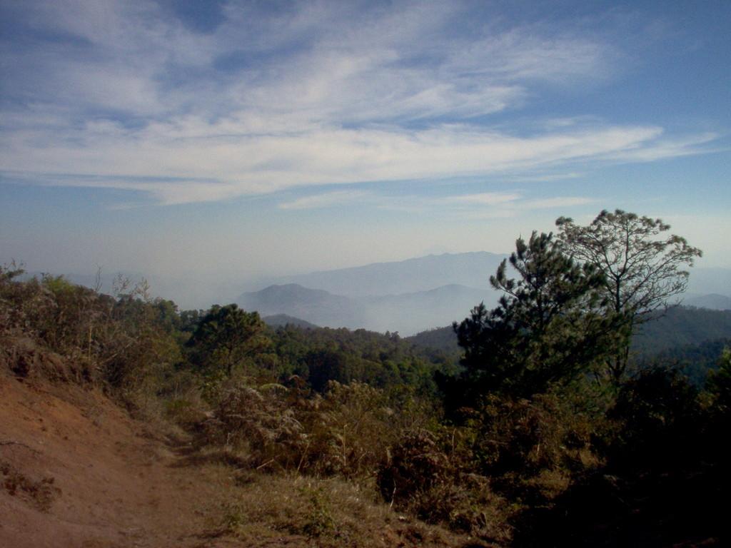 Blick in das Grenzgebirge bei Nahuaterique