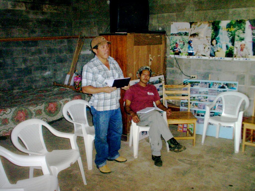 Vortrag des Bürgermeisters von Nahuaterique, Februar 2010