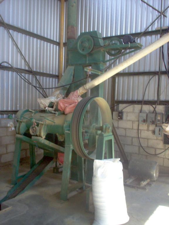 Dreschmaschine in der Kaffeeveredelungswerk
