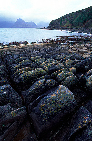 Strand, Küste bei Elgol, Isle of Sky, Schottland