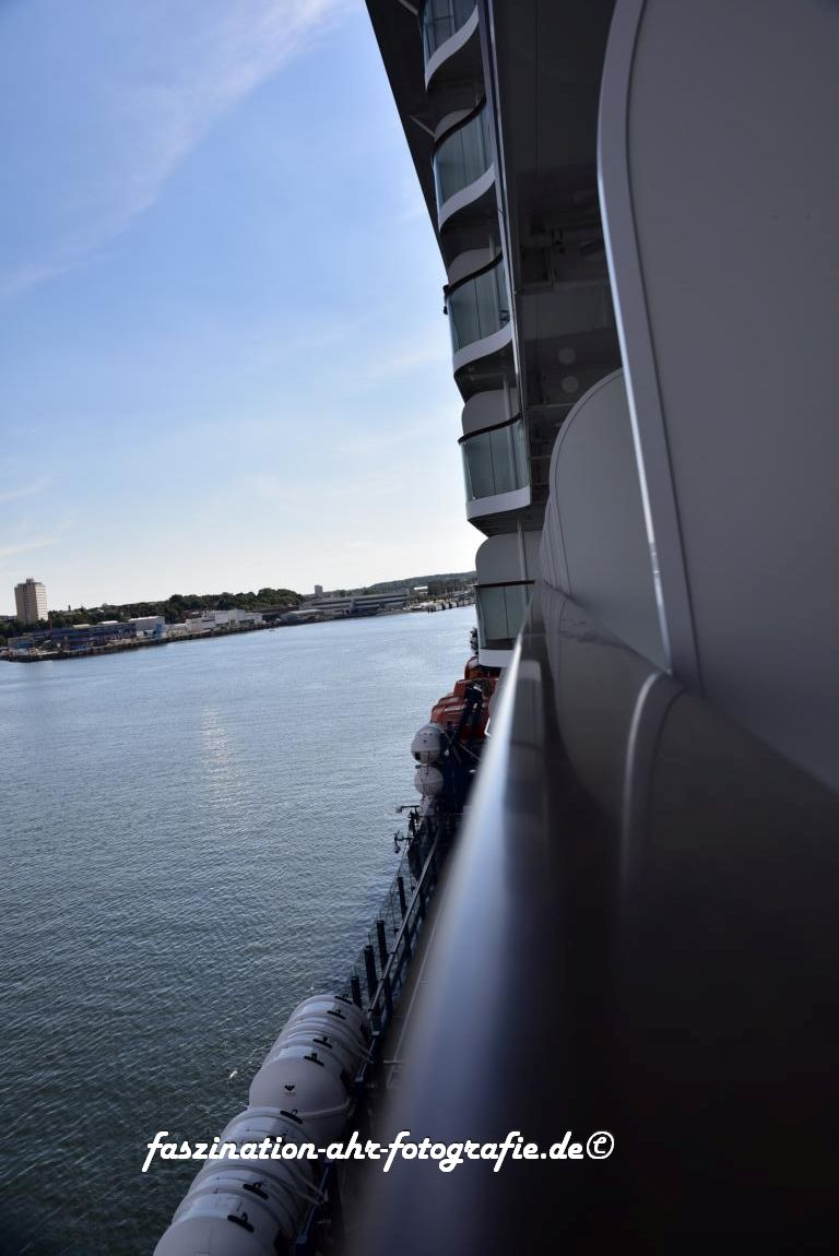 Ausblick vom Balkon der Kabine