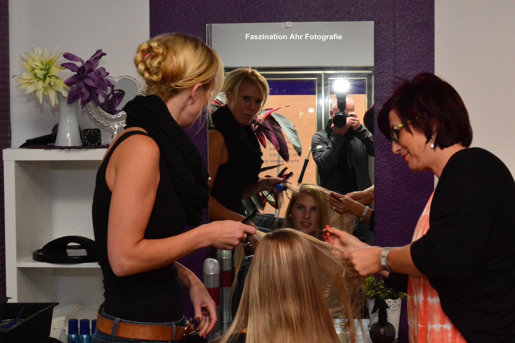 Morgens um 08:30 Uhr begann der Tag im Haarstudio Chrissi's Hairdesign One