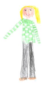 Frau Kirsch, gemalt von Zahar