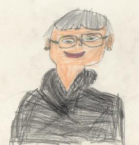 Frau Schreiber, gemalt von Lina