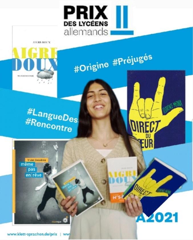 Lina Ashour bei der Landesjury des französischen Literaturpreises Prix des lycéens allemands 2021
