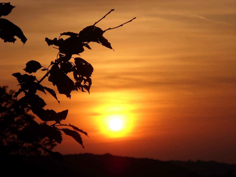 Sonnenuntergang bei Stadt Blankenberg