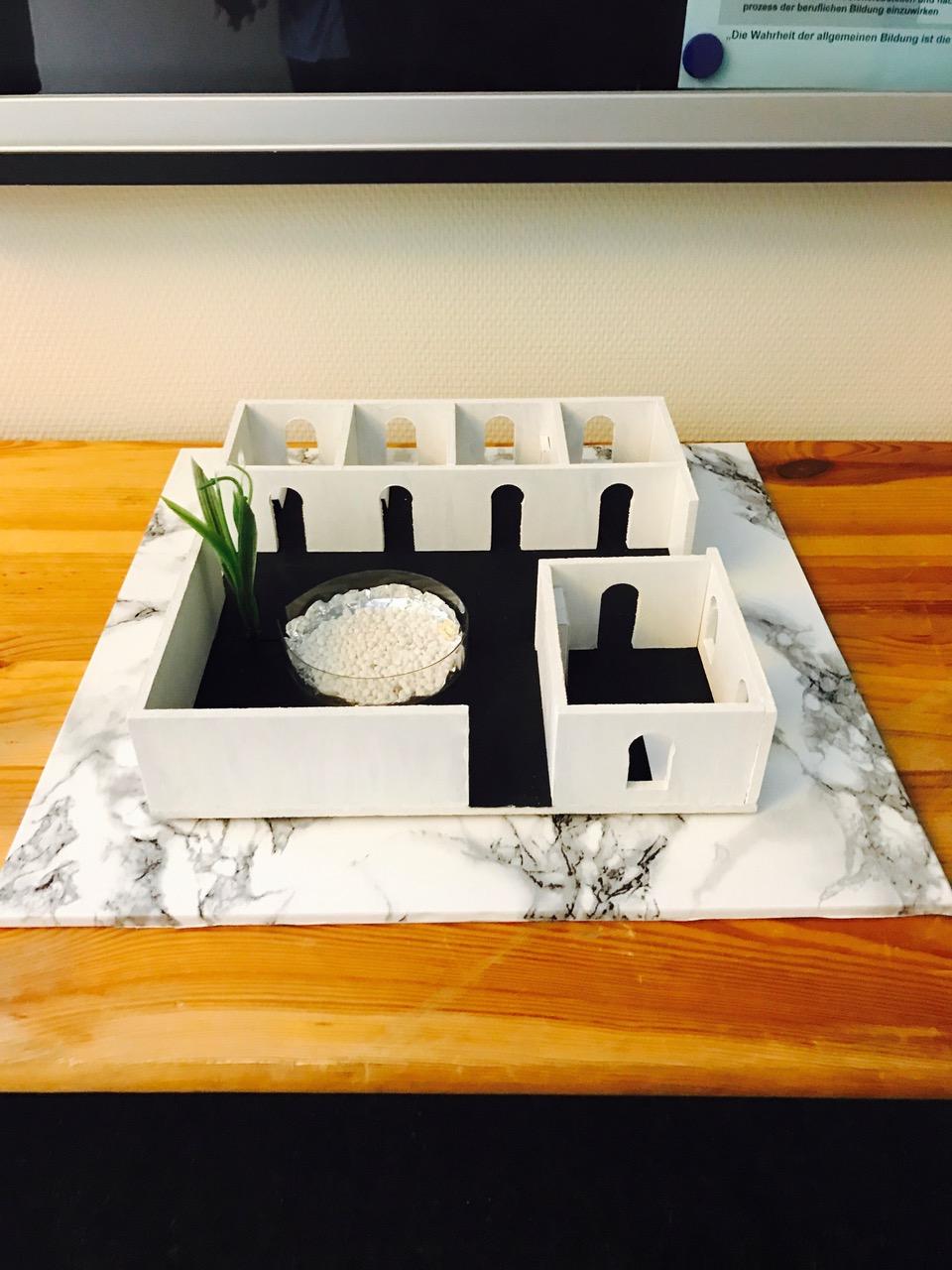 Architekturmodell von Saeeda Said Mihrabudin