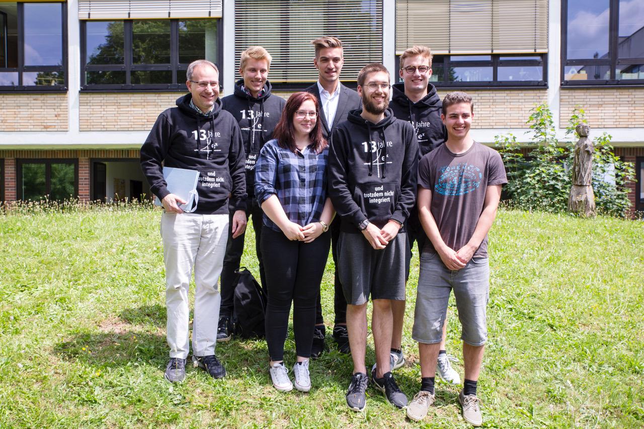 Leistungskurs Mathematik, links Lehrer Guido Rotter