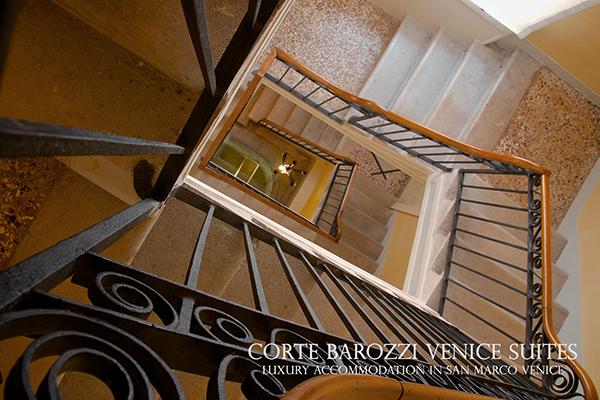 Corte Barozzi Venice Suites -- the staircase