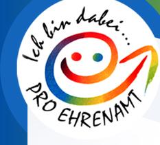 Ehrenamt Logo Ich bin dabei, Pro Ehrenamt