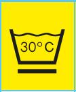 www.mueden.de, Pflegesymbol Waschbottich mit Pflegekennzeichen 30°C und unterstrichen