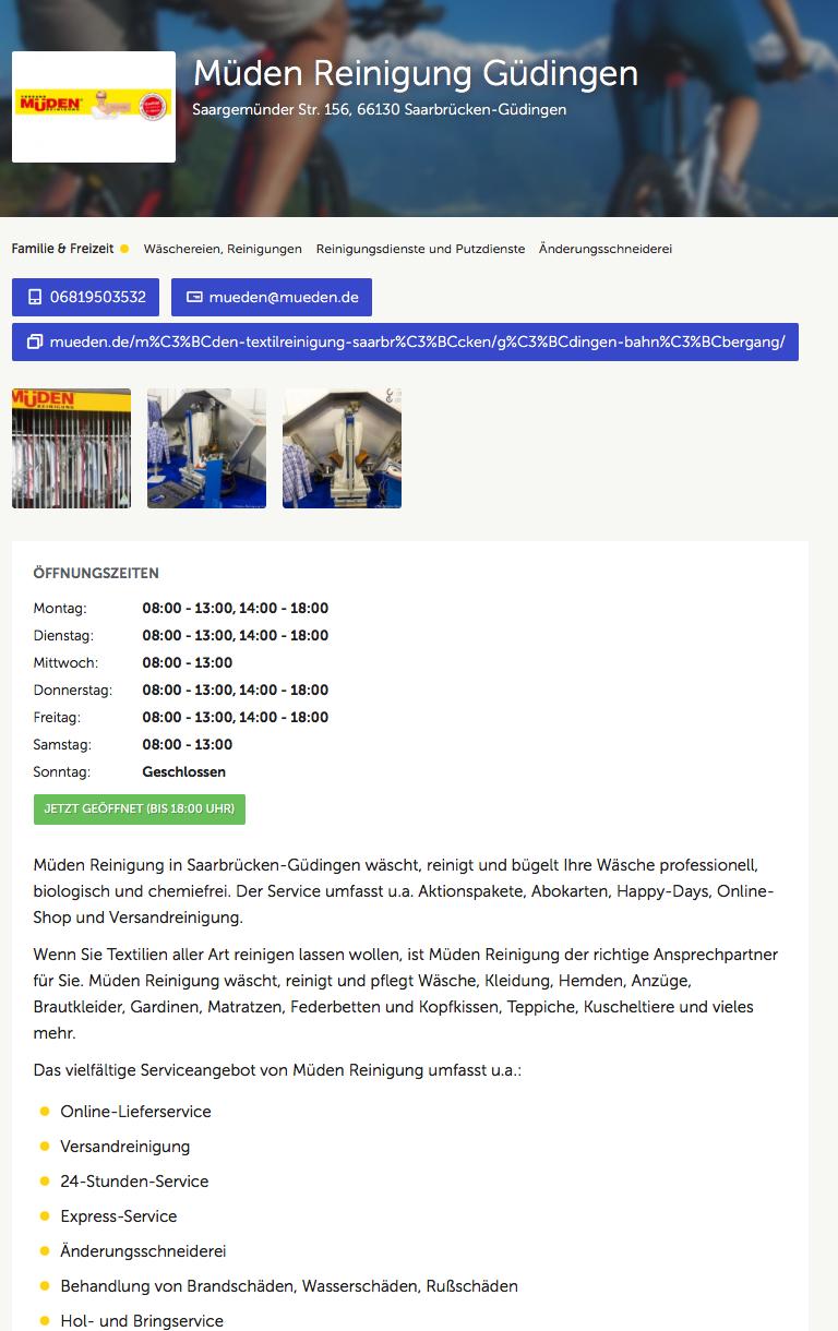 ALLESPROFIS, Bild Müden Reinigung Güdingen