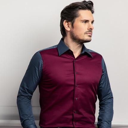 mueden.de, Masshemd, Bi-Color Hemd, Modell elsalvador_losangeles