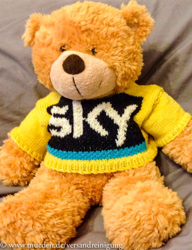 www.mueden.de, Kuscheltierspende, Saarbasar Sky-Teddy