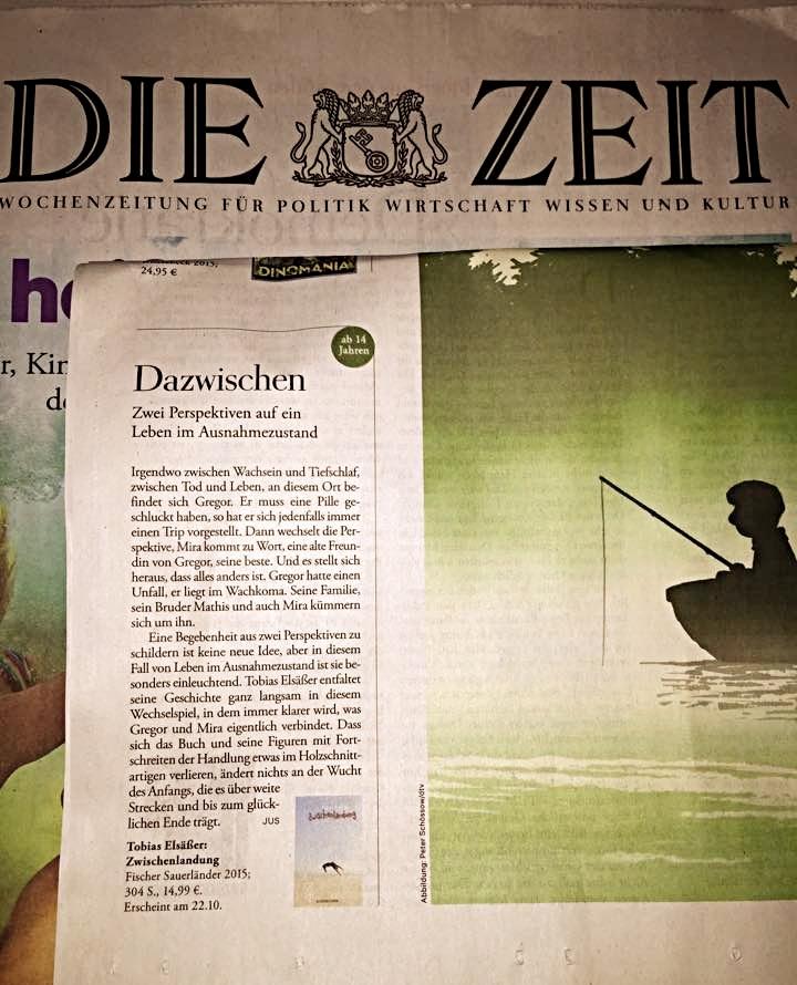 """DIE ZEIT 2015 zu """"Zwischenlandung"""""""